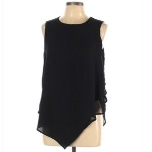 Mossimo Sold Black Sleeveless Blouse - Large